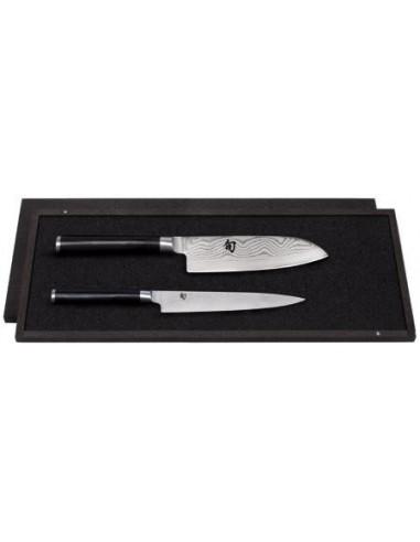 Estuche 2 cuchillos (Fileteador / Santoku ) KAI SHUN DMS-230