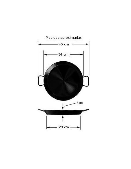 Paellera valenciana La Ideal ***** Pata Negra 34 cm