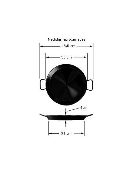 Paellera valenciana La Ideal ***** Pata Negra 38 cm