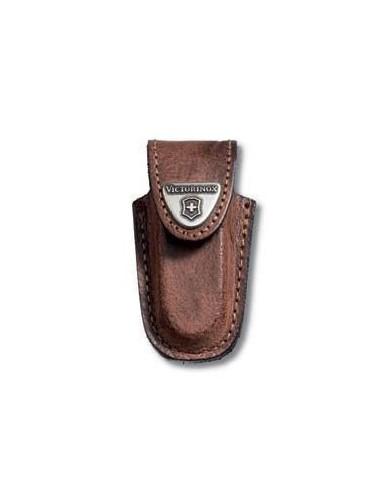 Funda cinturon, piel marrón, para Victorinox Classic