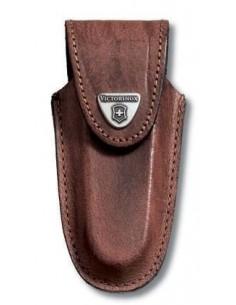 Estuche para cinturón, piel marrón,con cierre adhesivo