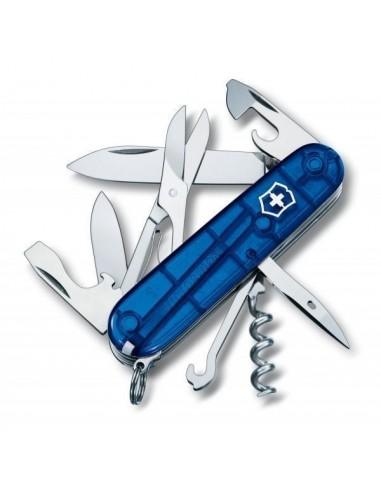 Navaja Suiza Climber, Azul traslucido 14 funciones (1.3703.T2)