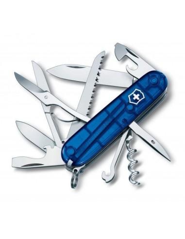 Navaja Suiza Huntsman, Azul traslucido 15 funciones (1.3713.T2)