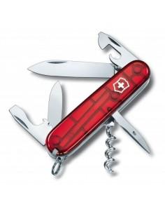 Navaja Suiza Spartan, Rojo Traslucido 12 funciones (1.3603.T)
