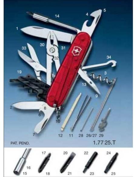 Navaja Victorinox CyberTool, Roja Trans. 34 usos Ref. 17725.T