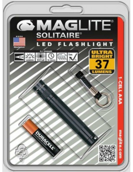 MAGLITE SOLITAIRE LED NEGRO BLISTER