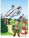 Juego cubierto infantil, 4 pzas. Zwilling modelo Grimm's Märchen