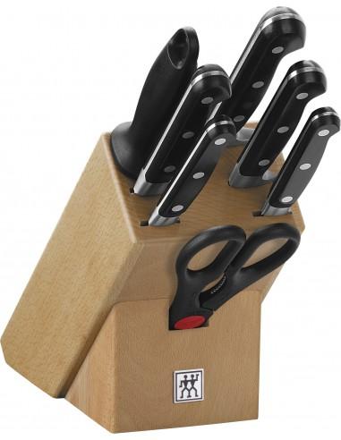 Bloque de cuchillos, madera natural 8 Piezas ZWILLING PROFESSIONAL S