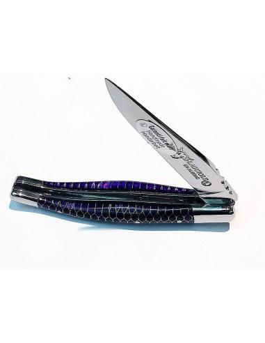 Navaja Laguiole Nido de Abeja 10 cm, violeta