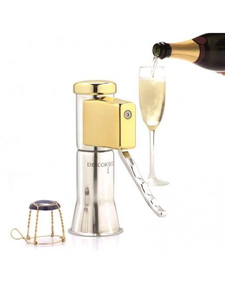 Descorjet - sacacorchos facil para botellas de cava y vinos espumosos