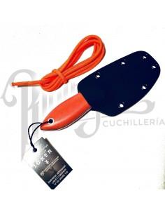 CUCHILLO DE CUELLO AVISPA PUÑO MICARTA NARANJA F/ KYDEX H/ 8CM (CN117)