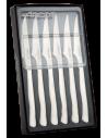 Jgo. 6 Cuchillo Mesa Chuletero perlado ARCOS 3755