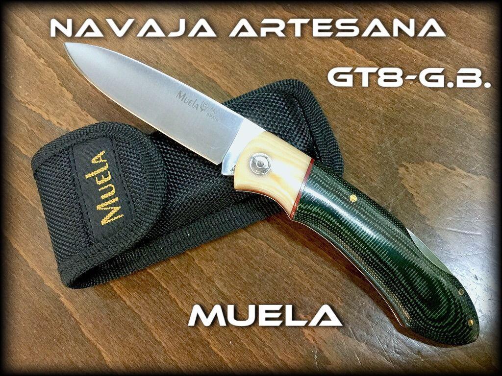 Manufacturas Muela fabricante de cuchillos y navajas artesanales presenta, dentro de la familia de NAVAJAS ARTESANAS, la NavajaGT-8G.B.