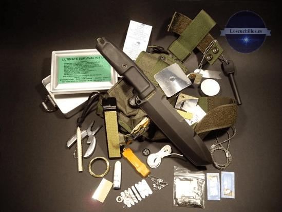 detalle del cuchillo supervivencia Extrema Ratio Ontos